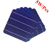 100 Pcs 5W 156 x 156MM Monocrystalline Solar Panel Solar Cells 6x6 For Photovoltaic Home Solar System