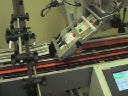 Automatic Label Applicator for Flat Surfaces (Model 630S) Video