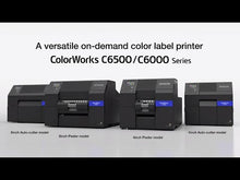 Load and play video in Gallery viewer, Epson CW-C6500P Matte Color Label Printer (C31CH77A9961) Video