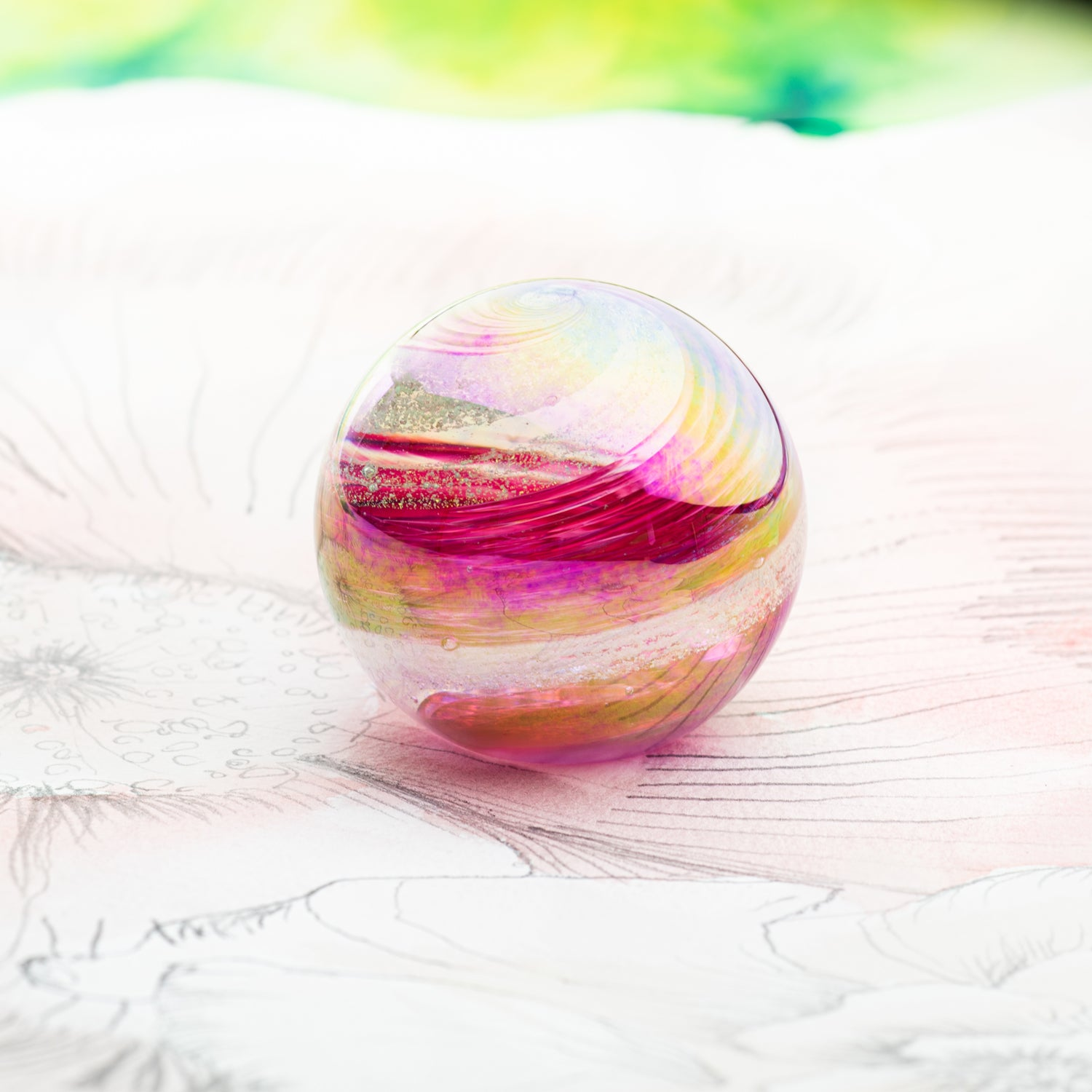 Glass Art Pet Memorials: ash infused globe
