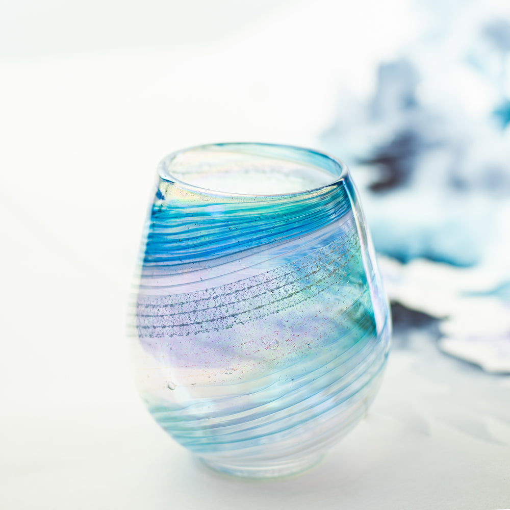 Glass Art Pet Memorials: ash infused votive