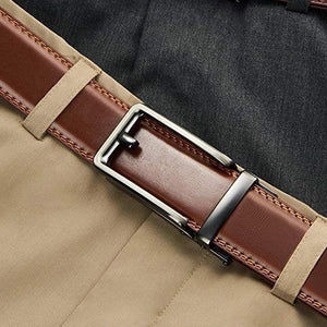Highly Durable Genuine Leather Ratchet belt-Buy 2 free shipping