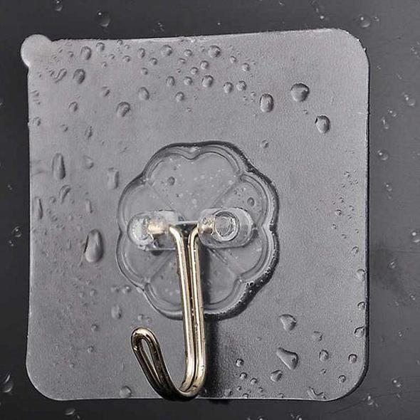 Acrylic rubber waterproof and reusable practical hook
