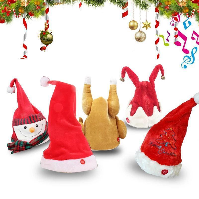 2019Christmas Pre-Sale! Singing & Dancing Santa Hat