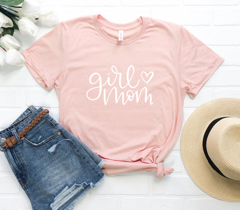 """Girl Mom"" Tee- Large Lettering - The Lulu Shop LLC"