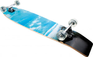 small foot Longboard Surfer