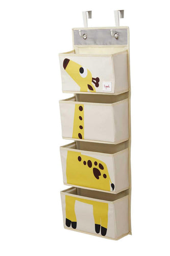 3 Sprouts Vægophæng med lommer (Wall Organizer), Giraffe