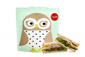 3 Sprouts Sandwichpose 2stk., Owl