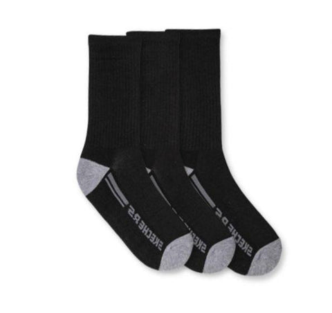 Skechers Mens 3pk 1/2 Terry Crew Socks - (106323-001/001) - F
