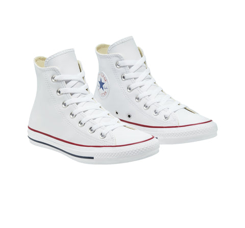 *Converse Chuck Taylor White Leather High (132169) - R1L7