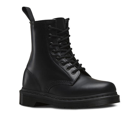 Dr Martens 1460 Mono Black 8 Eyes Smooth Leather
