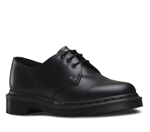 Dr Martens 1461 Mono Black 3 Eyes Smooth Leather
