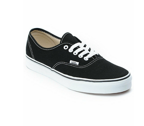 *Vans AUTHENTIC Black & White Sneakers (VN000EE3BLK) - BLK - R1L6