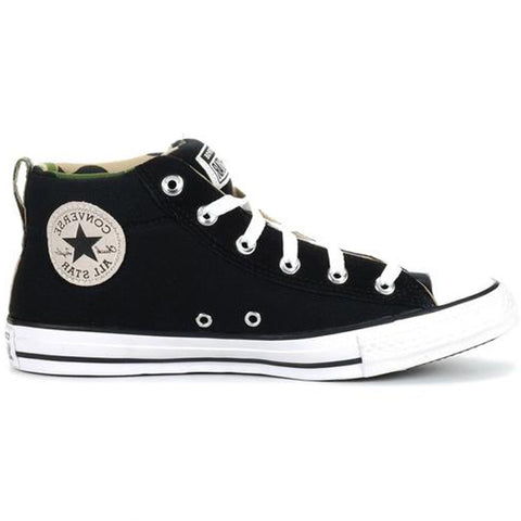 *Converse Ct Street Canvas And Suede Black/White/Black (166977C)- AM - R1L8