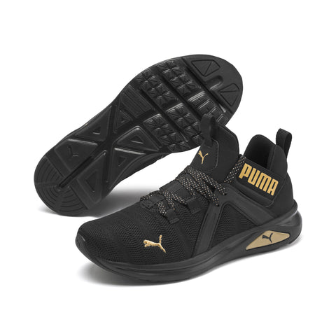 *PUMA WOMENS ENZO 2 METAL Black/Gold (193257-01) - ME - R2L14