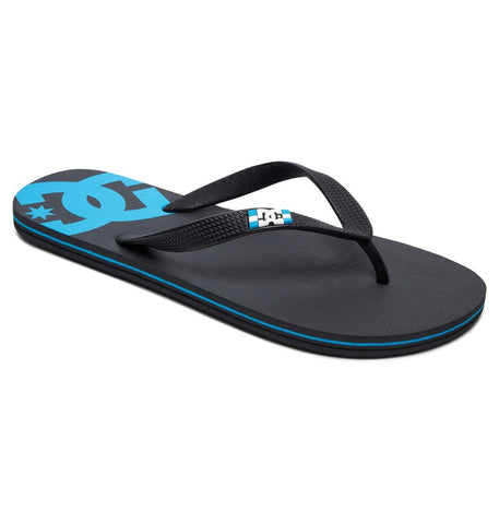 #DC Spray Jandals Grey/Black/Blue - (303272-XSBK) - F