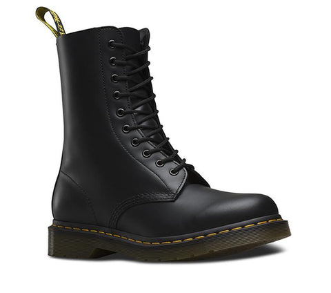 Dr Martens 1490 Black 10 Eye Smooth Leather