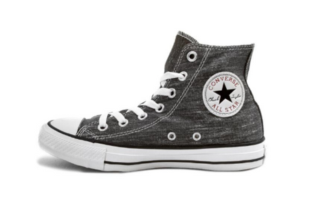 *Chuck Taylor All Star Grey/White High Top (147034C)- DQ - R1L7