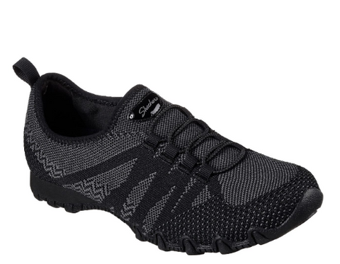 Skechers Womens Relaxed Fit Bikers - (49422/BLK) - FK - R2L16 - L/P