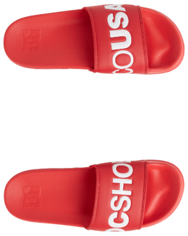 #DC Womens Slides Coral Red - (ADJL100019) - DCC - F