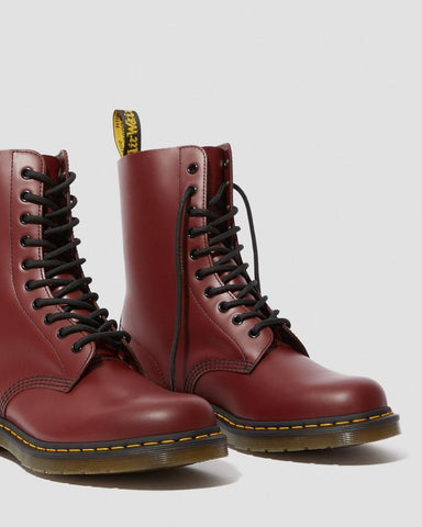 Dr Martens 1490 Cherry 10 eye Smooth Leather