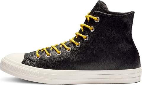 *Chuck Taylor Limo Leather High Top - (163339C) - CG - R1L6
