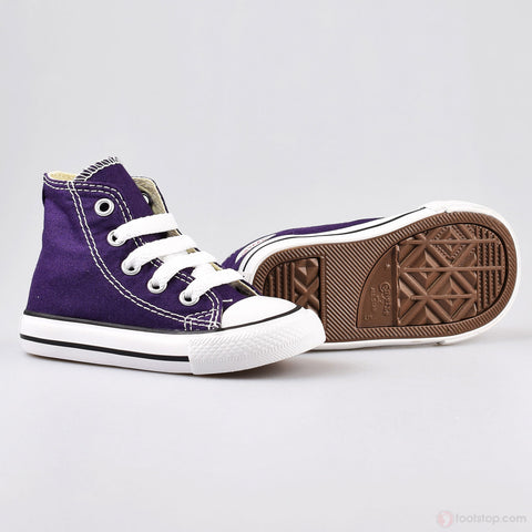 *Converse CT All Star Hi Top Eggplant (Toddler) - (749516C) - PE - R1L1 - L/P
