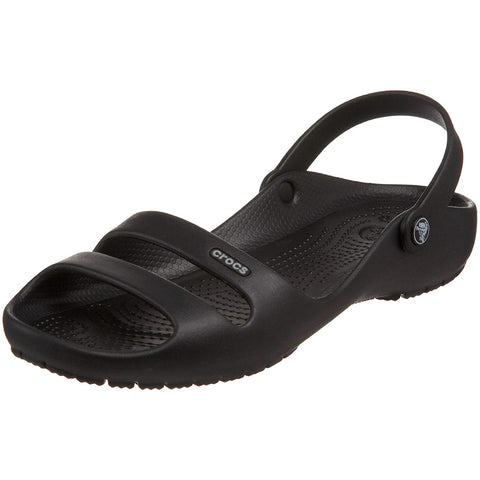 #Crocs Women's  Cleo II Relaxed Fit Blk/Blk - (11214 060) - F