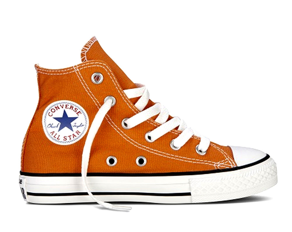 #Converse Chuck Taylor Youth Hi Exuberance (Orange) - (339788C) - EX - R1L1