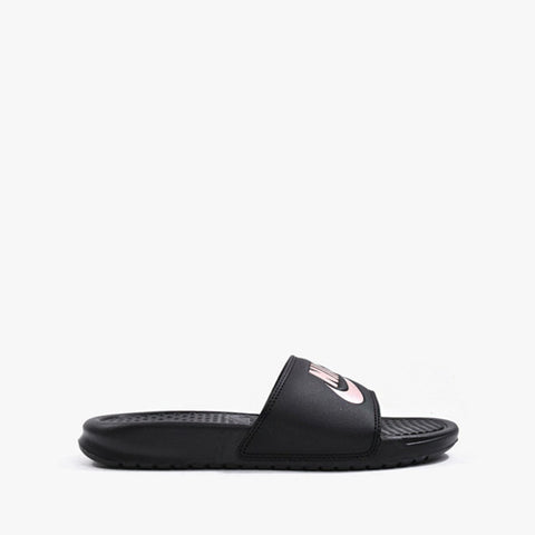 #Nike Benassi JDI Womens Black/Rose Gold Scuffs (343881 007) - J1 - R2L15