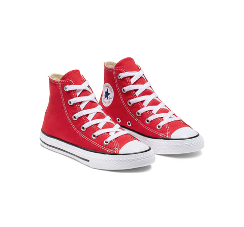 #Converse Chuck Taylor Kids Red Hi Cut Red- (3J232C) - RED HI - R1L1