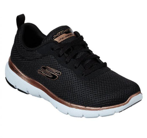 Skechers Womens FLEX APPEAL - (13070/BKRG) - BKR - R2L16