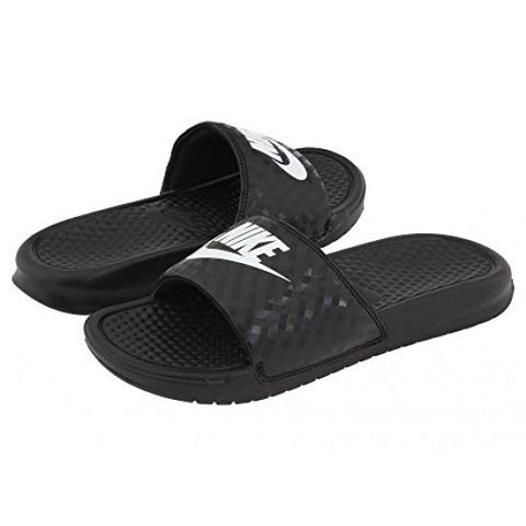 *Nike Womens Benassi JDI Black Scuffs / Slides (343881-011) - BT - R2L15