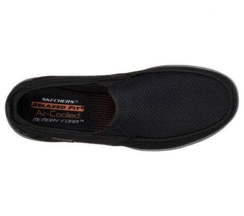 #Skechers Mens Relaxed Fit Harper Walton - (65382/BLK) - CM - R2L16