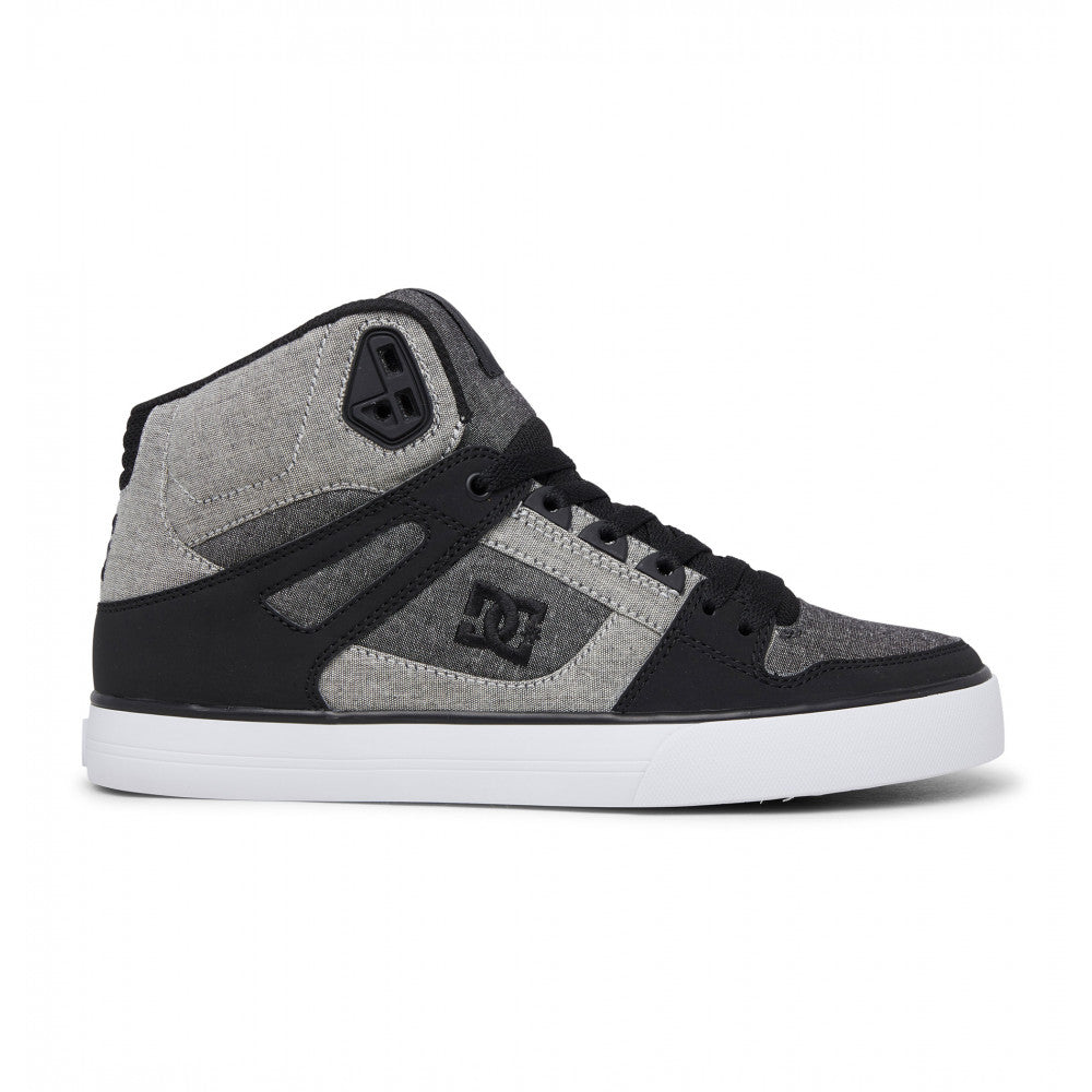 #DC Pure Hi Top WC  Black/Heather Grey- (ADYS400043) - S4 - R2L11