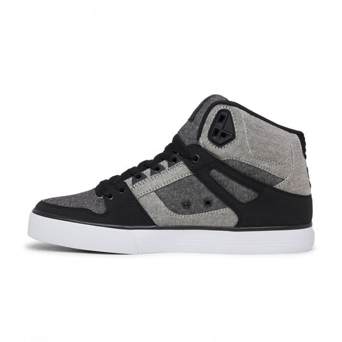 #DC Pure Hi Top WC  Black/Heather Grey- (ADYS400043 BHE) - S4 - R2L11