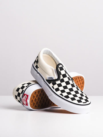 #Vans Kids Classic Slip On Checker - (VN000ZBUE01) - CHK - R1L1- L/P