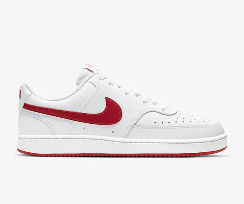 #Nike Unisex Court Vision Lo White/Red - (CD5463 102) - CV - R1L3