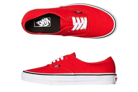 #Vans Authentic Fiery Red/Black - (VN-0SCQ7ZW) - OR - F