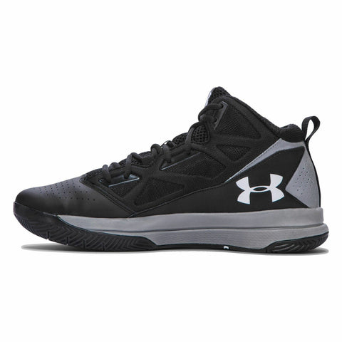 #UA Mens Jet Mid Black/Grey - (1269280 001) - R - R2L14