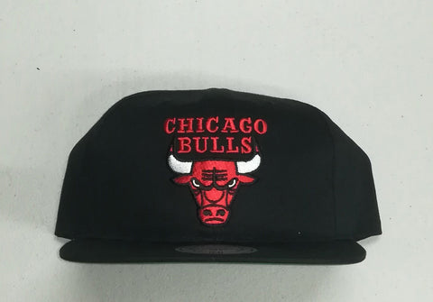 #Mitchell & Ness Adjustable Chicago Bull - (MN NBA NAR393 CHIBUL BLK OS) - MBR - F