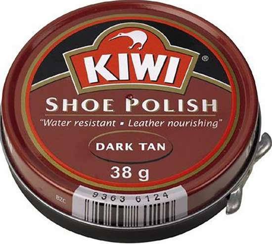 Kiwi Brand Wax Polish - Dark Tan - 38g