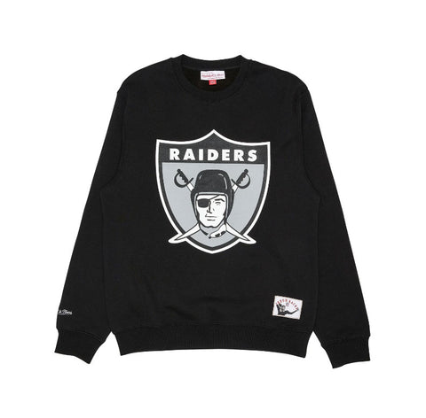 Mitchell&Ness Mens Oakland Raiders Throwback Crew - (MNOR0133PC.BLK0000)