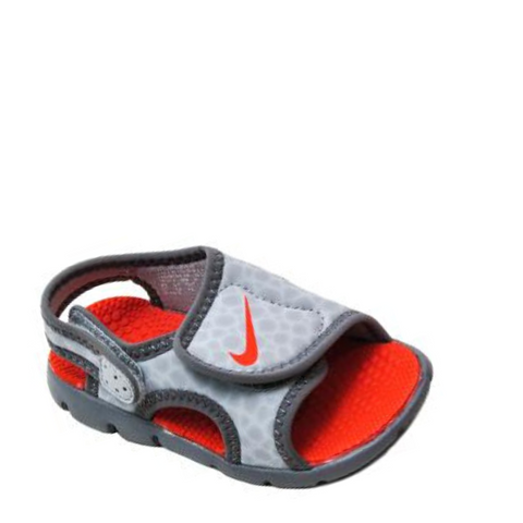 #Nike Sunray Adjust 4 Toddler Grey/Orange - (386519 009) - S20 - R1L9
