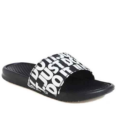 *Nike Benassi Just Do it Print Slide Scuffs / Slides (631261-024) - L2 - R1L15