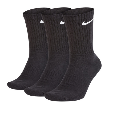 Nike Everyday Cushion Crew Unisex Black - 3 Pack