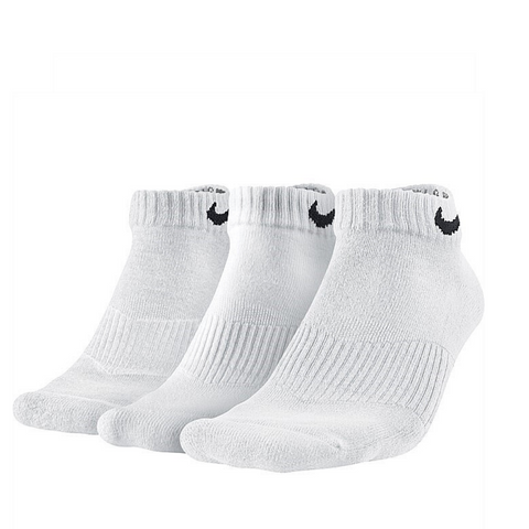 #Nike Cushion Low Cut Sock Unisex White 3pk - (SX4701 101) - F - L/P