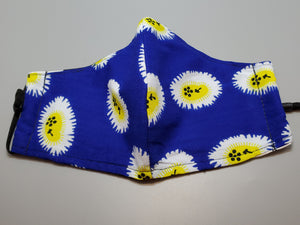 Ankara Blue Multi Reusable Face Mask