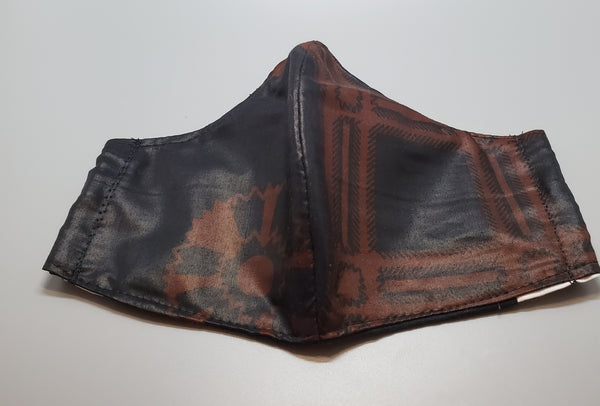 Ankara Black and Brown Cloth Face Mask
