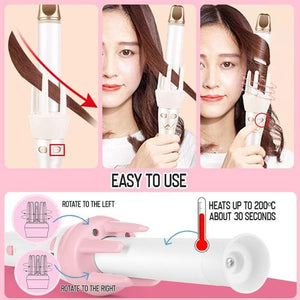 360° Auto Curling Wand with Rotating Roller